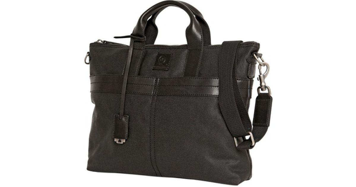 Mcq Waxed Canvas Shoulder Bag Men Only in Black for Men - Lyst 24835b57fb102