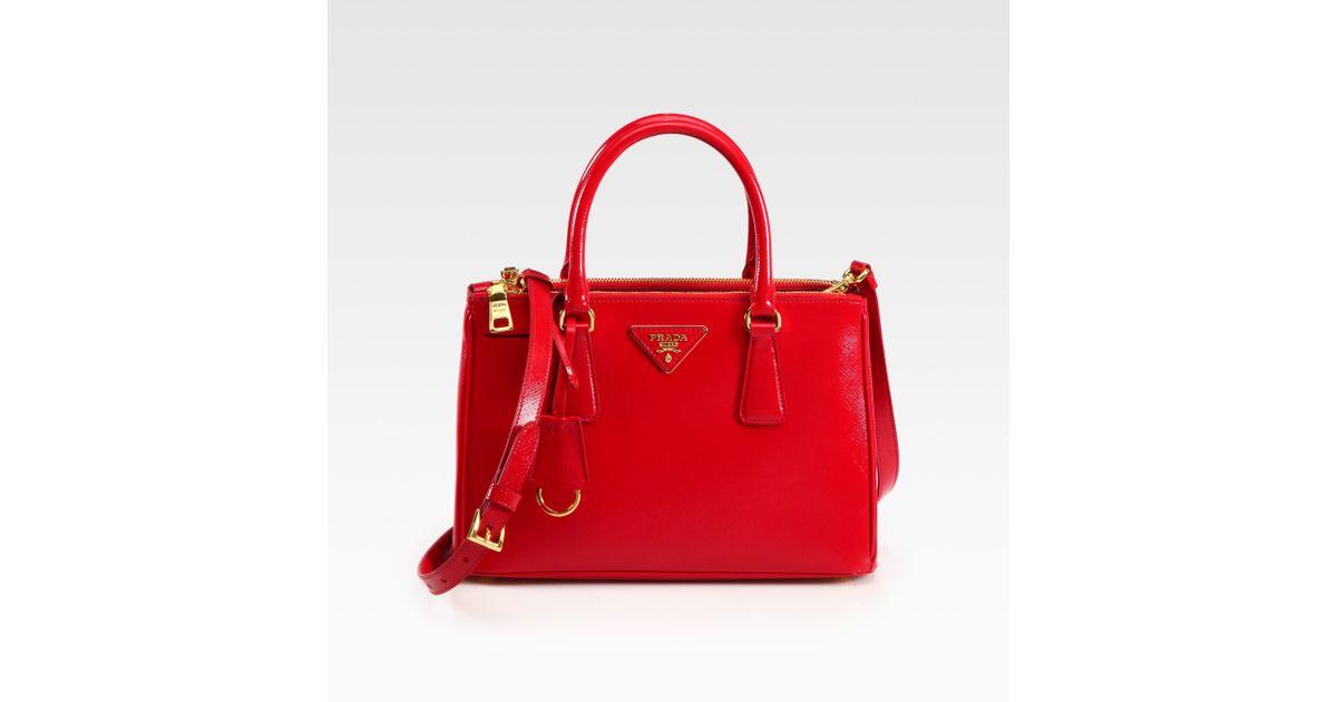 fake prada tote bag - Prada Saffiano Vernice Tote in Red (rosso-red) | Lyst