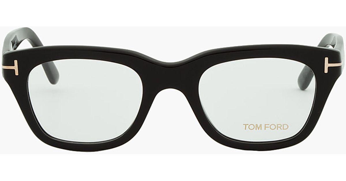 Lyst - Tom Ford Black Thick Frame Cat Eye Glasses in Black for Men