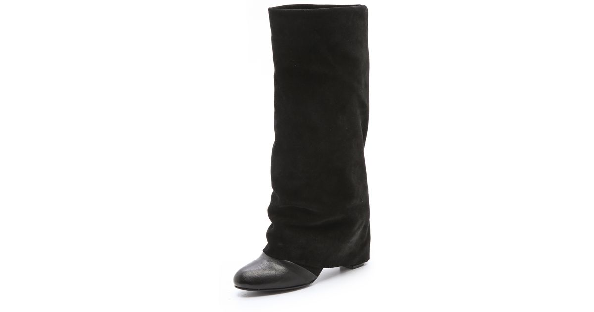 8fbbdabdc815 Lyst - See By Chloé Cuffed Tall Boots in Black