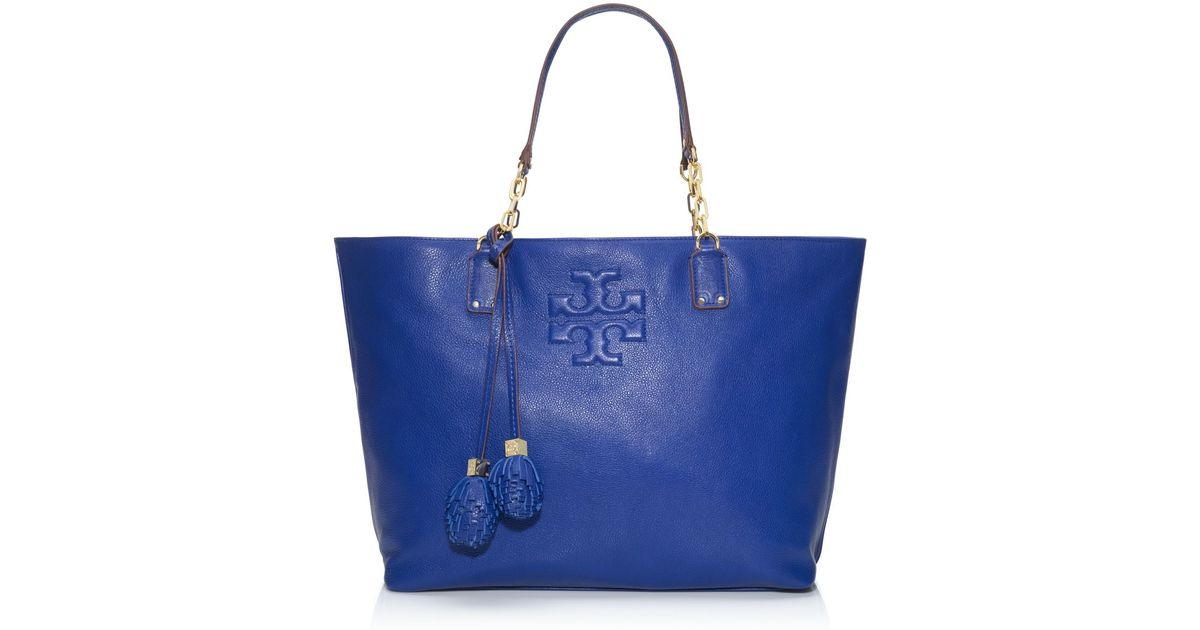 36eb107d69 Tory Burch Thea Tote in Blue - Lyst