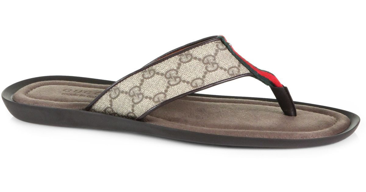 4521f8dddfbbf Lyst - Gucci Thong Sandal in Gray for Men