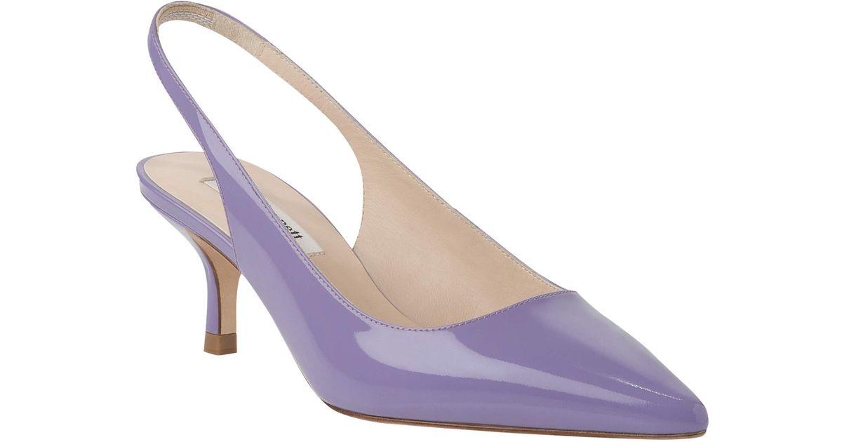 6f8cb25a46b L.K.Bennett Patent Point Toe Kitten Heel Court Shoes in Purple - Lyst