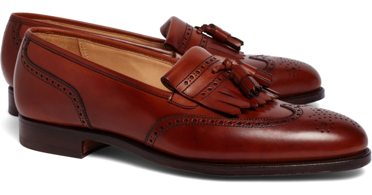 fd30dba480a Lyst - Brooks Brothers Peal   Co.® Kiltie Tassel Loafers in Brown for Men