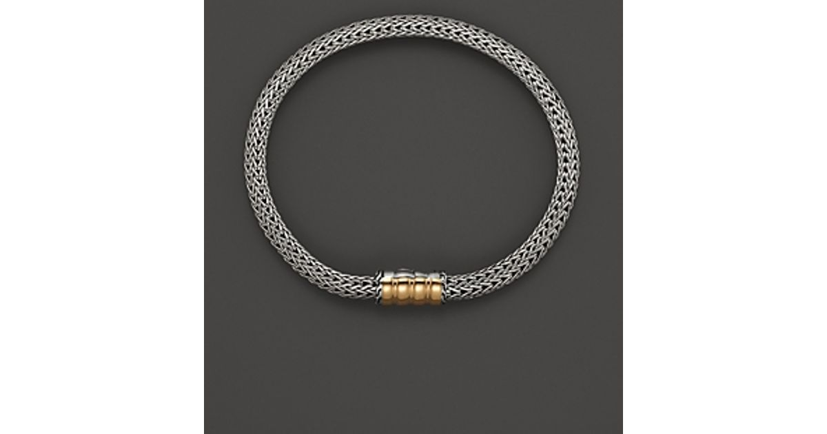 Lyst John Hardy Bedeg 18k Gold And Silver Extra Small Station Bracelet In Metallic