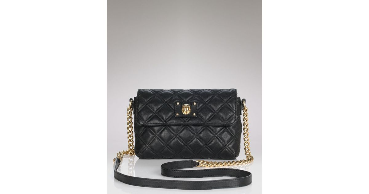 2c62f3107c9a Marc Jacobs Crossbody Iconic Quilting Single in Black - Lyst