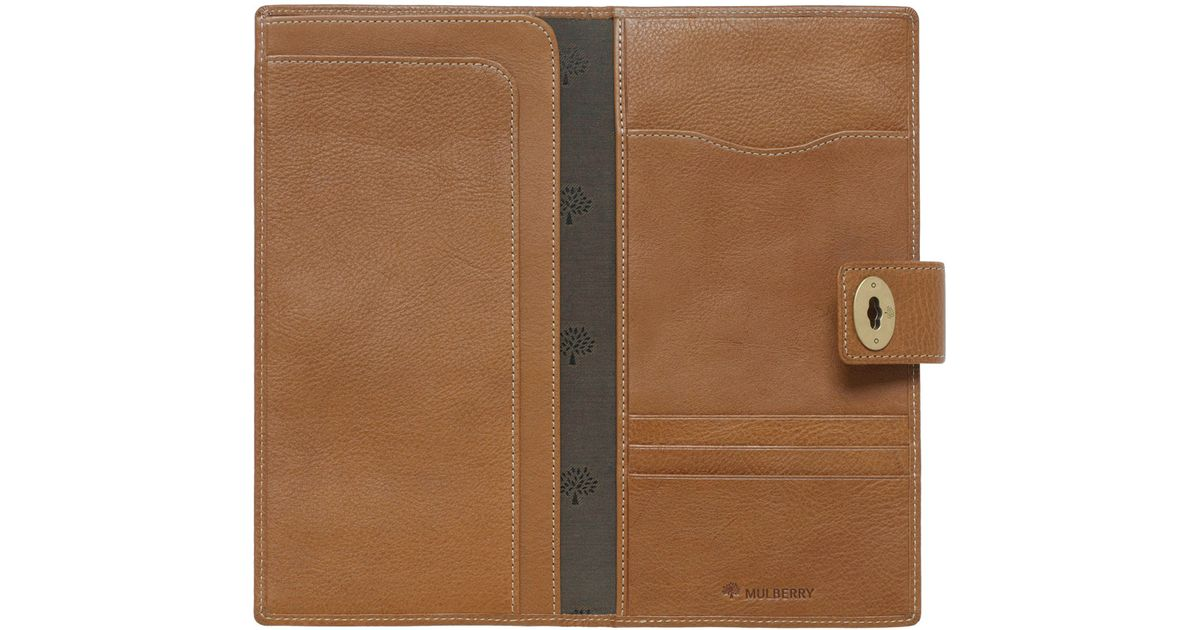 17d5d678246b ... coupon for mulberry womens travel wallet in brown for men lyst 6e849  e9904