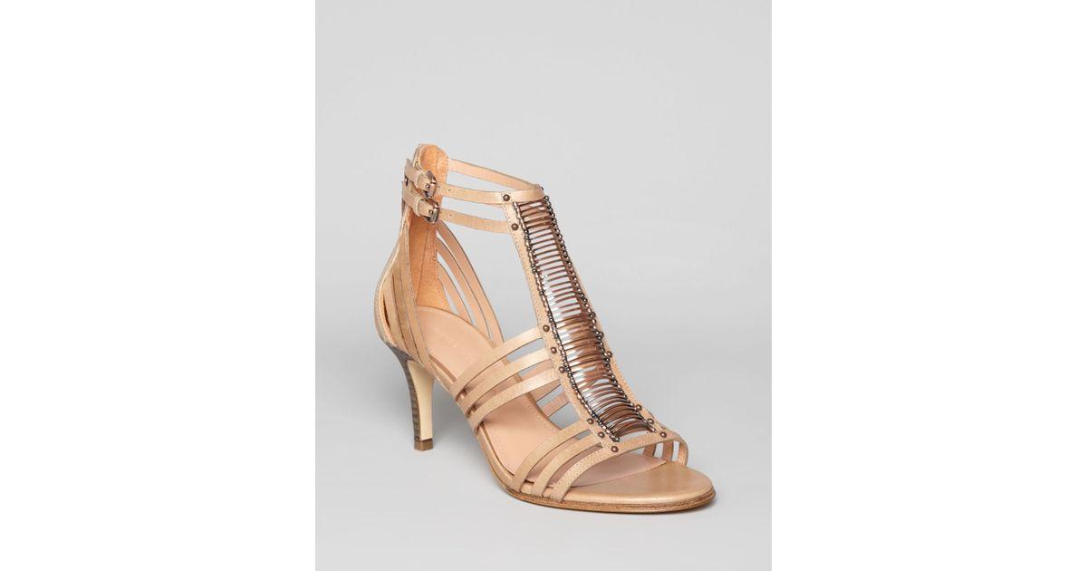 Sigerson Morrison Sandals Kiki Mid Heel in Gray - Lyst 9ff6d0ccfa4c