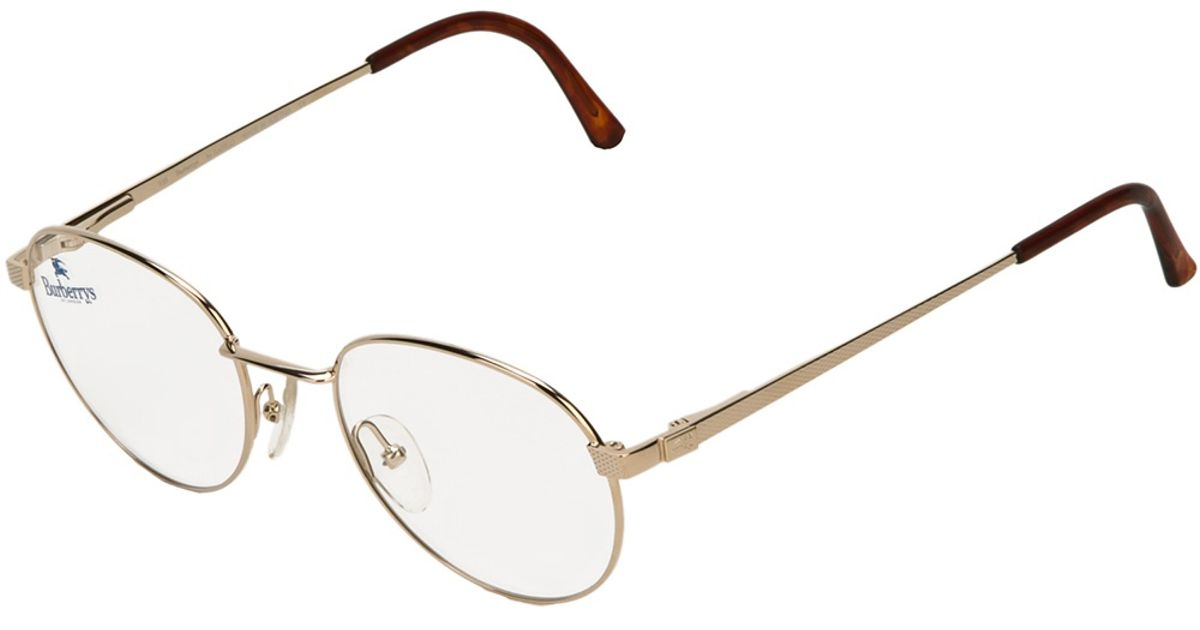 Lyst Burberry Round Frame Glasses In Metallic For Men aadd2429aa67