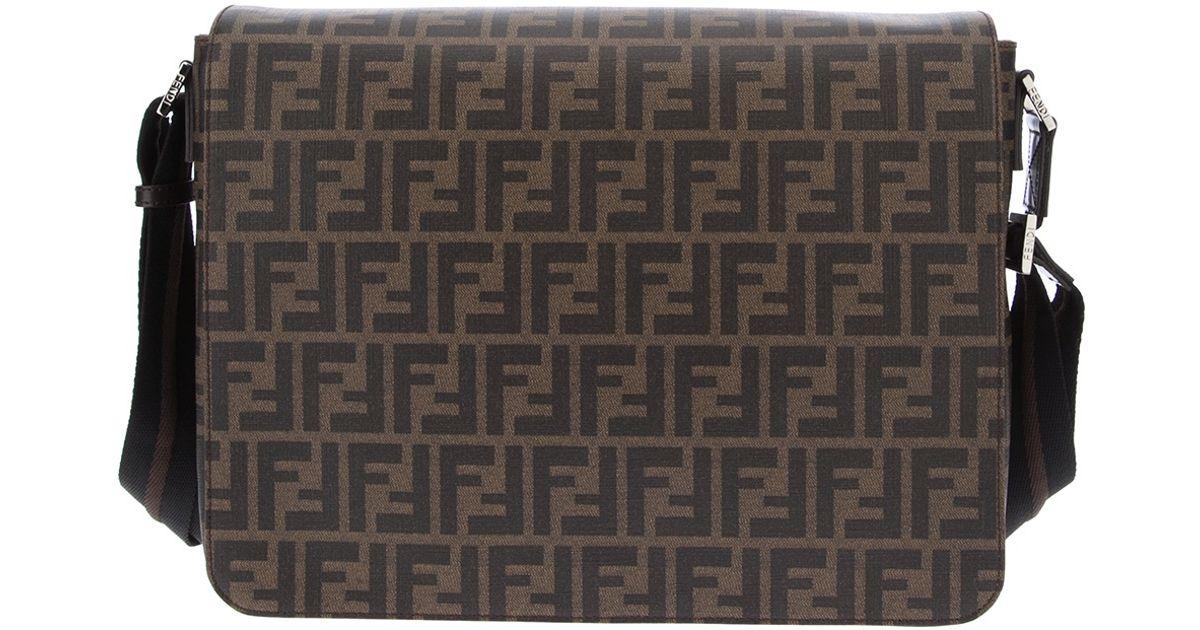 a40c4a92b7c5 Lyst - Fendi Monogram Messenger Bag in Brown for Men