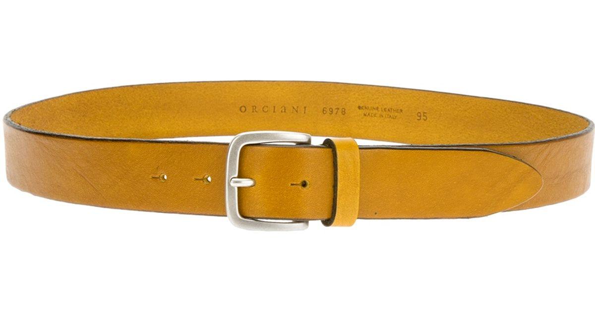 classic belt - Yellow & Orange Orciani YGbbJ