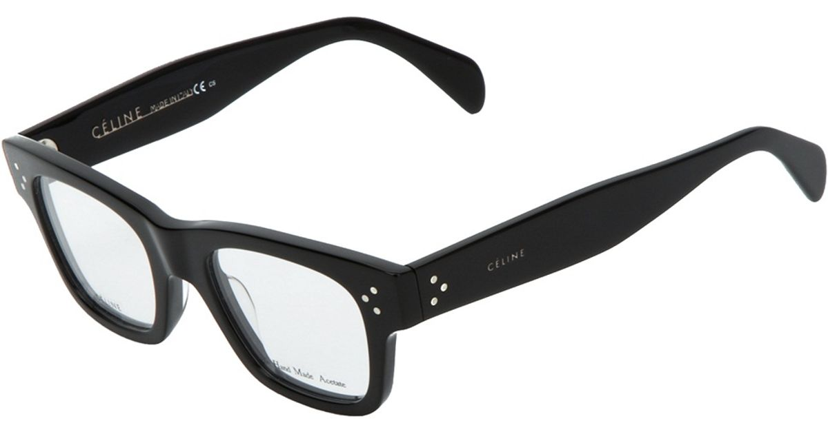 1bb2645bcb Lyst - Céline Square Frame Glasses in Black