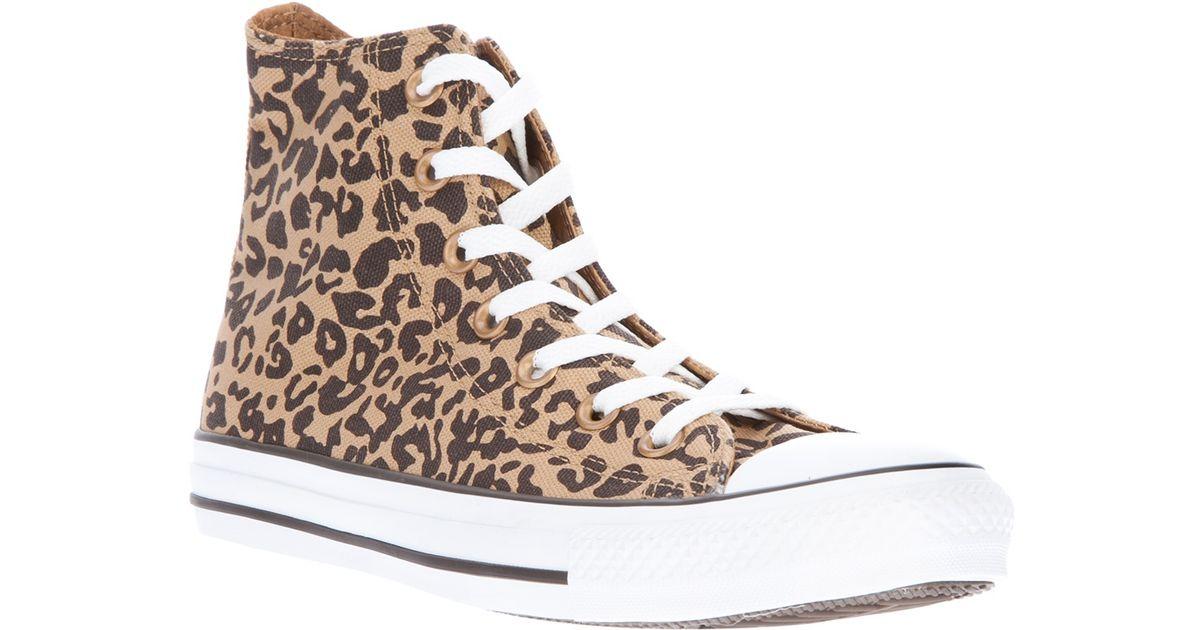 pas cher la clientèle d'abord Nouvelle liste Converse Multicolor Hi Top Leopard Print Trainer