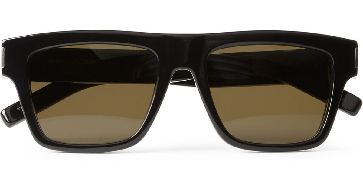 b188976121 Lyst - Saint Laurent Bold Squareframe Acetate Sunglasses in Black for Men