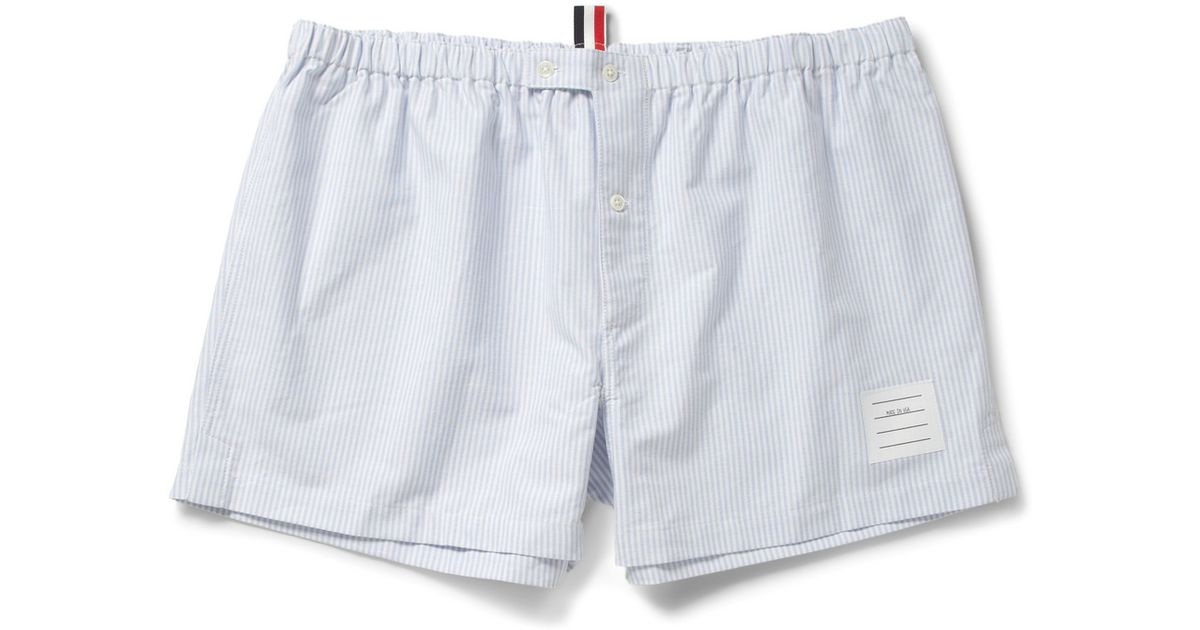 Thom Browne Cotton Oxford Boxer Shorts - Off-white