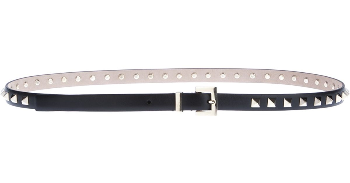 Rockstud skinny leather belt Valentino mm5F4qVYA
