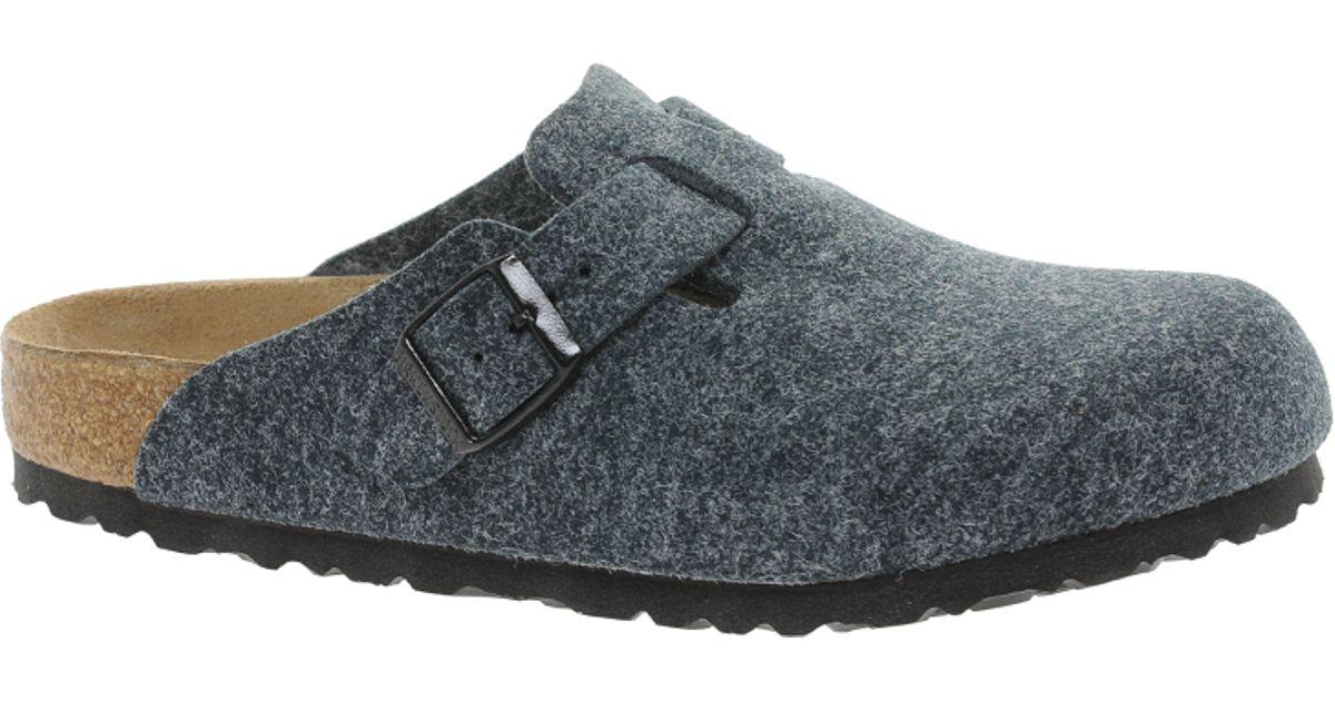 e243170d86fe92 Lyst - Birkenstock Boston Grey Wool Clogs in Gray