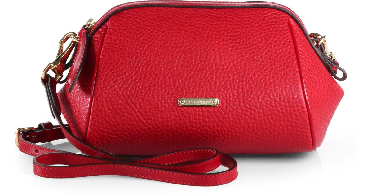 10a55291b5da Lyst - Burberry Blaze Mini Crossbody Bag in Red