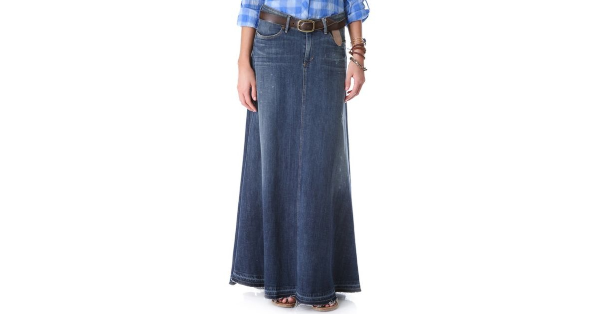 69e76f038791ef Citizens of Humanity Anja Maxi Skirt in Blue - Lyst