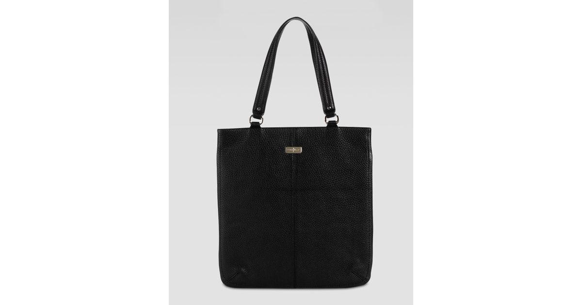 ae11917011 Lyst - Cole Haan Village Flat Tote Bag in Black