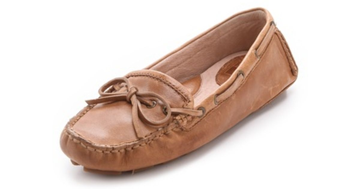 5315e46dfb3 Lyst - Frye Reagan Campus Driver Flats in Brown