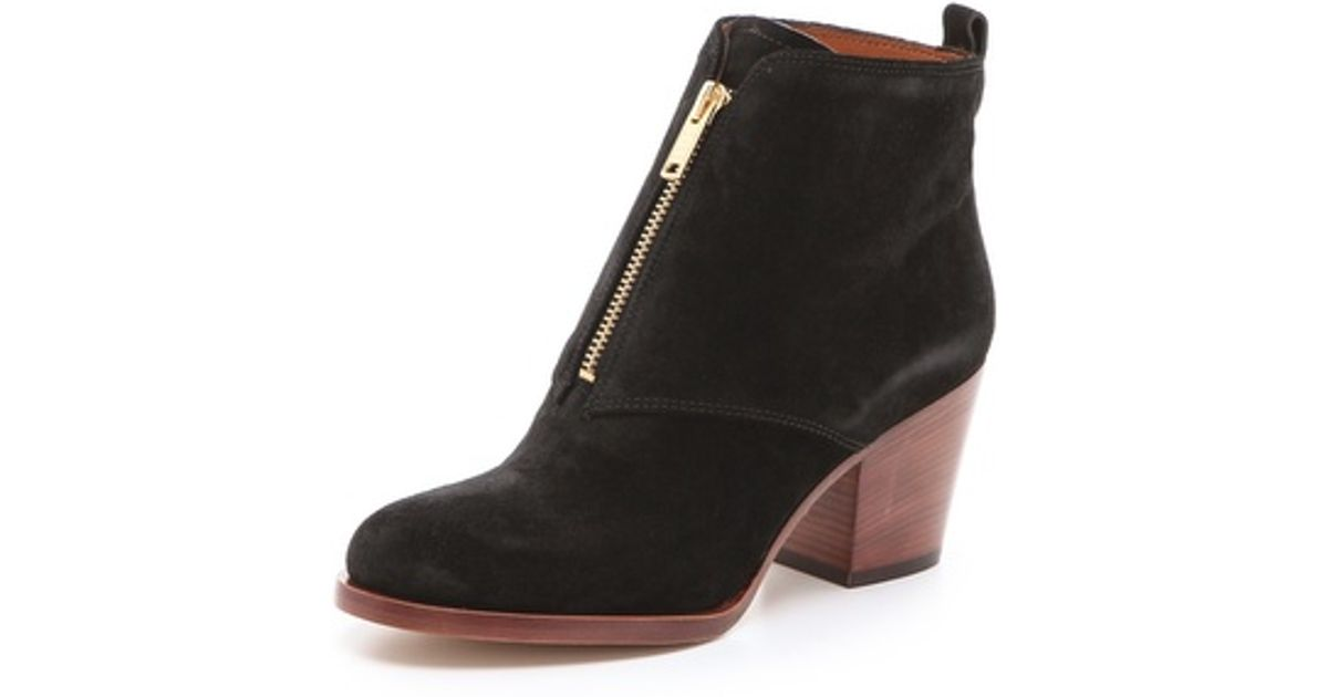 ac1a696fea2 Lyst - Marc By Marc Jacobs Zip Front Ankle Boots in Black