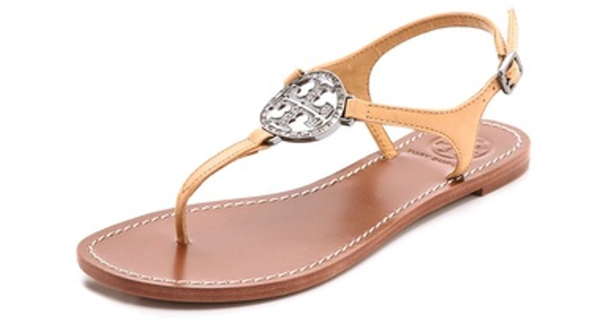 5216a2474d790 ... Lyst - Tory Burch Violet Thong Sandals in Brown crazy price 7ec9e fd457  ...