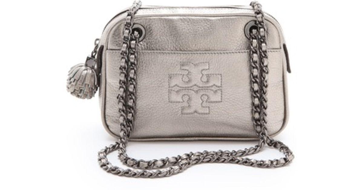 8741ac8bad2e Lyst - Tory Burch Thea Metallic Cross Body Bag in Metallic