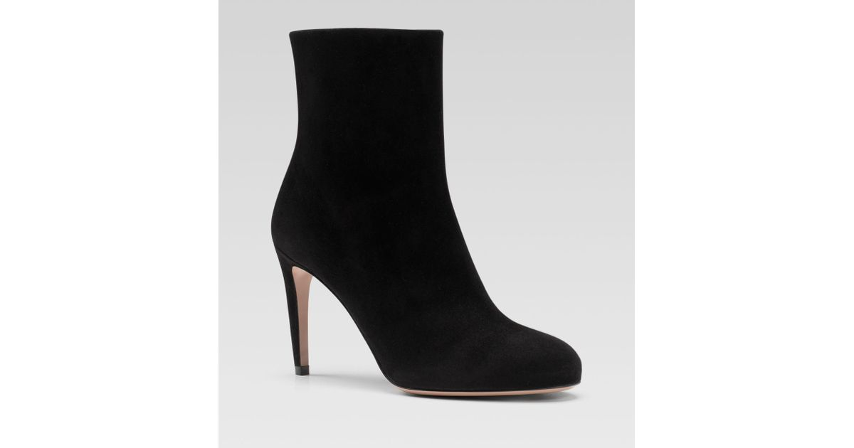 2f74c7093f1 Lyst - Gucci Goldie Mid Heel Booties in Black