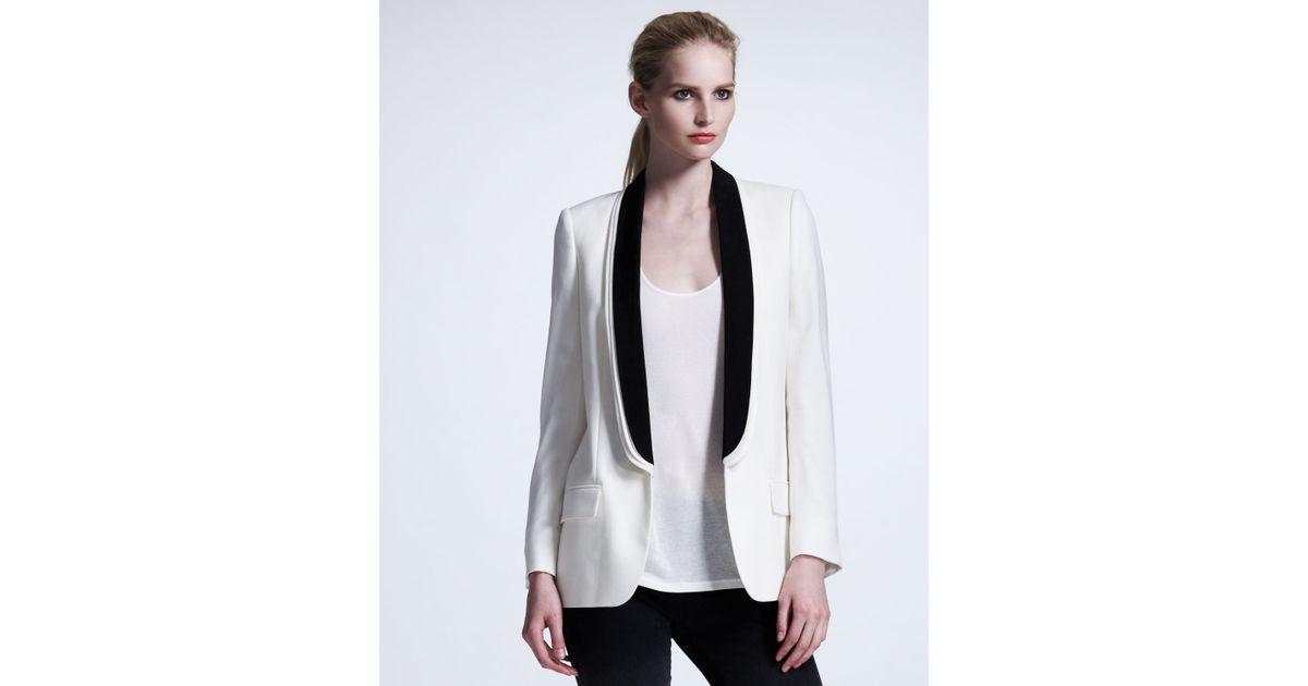Lyst Stella Mccartney Womens Triple Lapel Tuxedo Jacket White In White