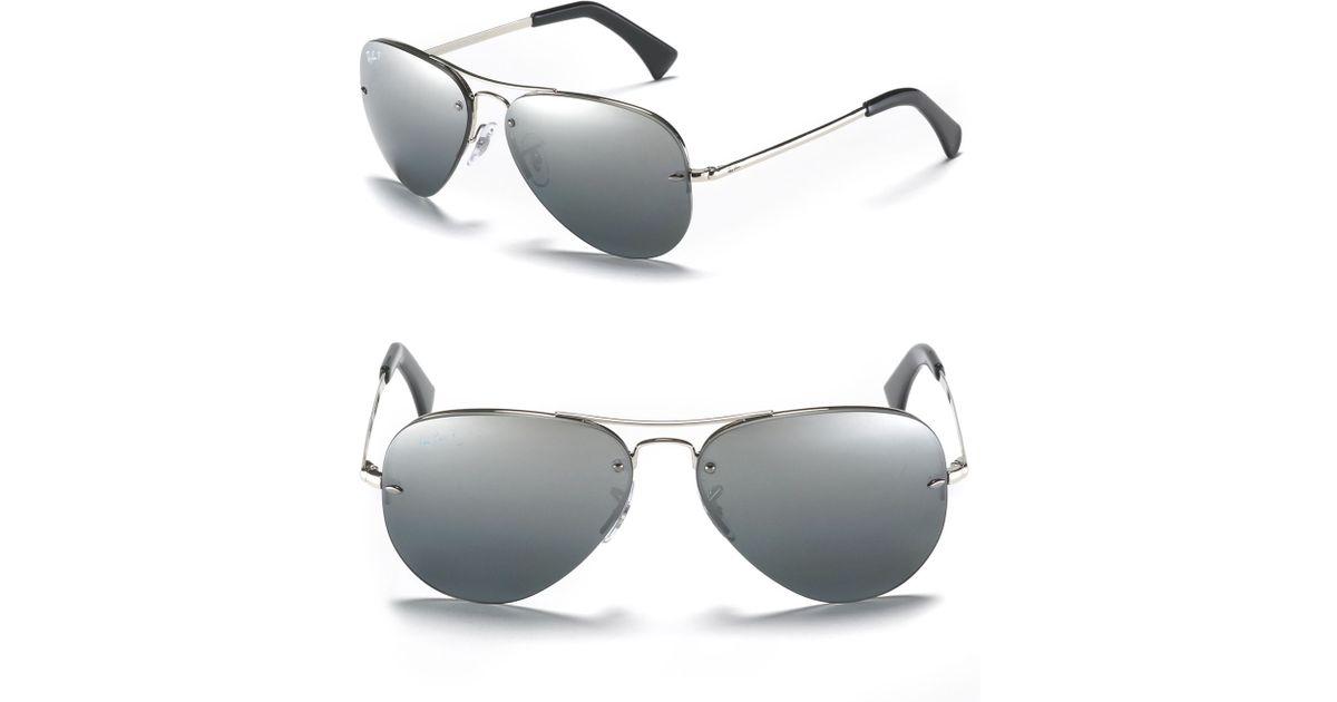 7dc115b7f6 Ray Ban Rimless Aviator 59mm Polarized Sunglasses « Heritage Malta