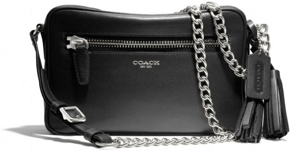 ed4c05318f Lyst - COACH Legacy Flight Bag in Leather in Black