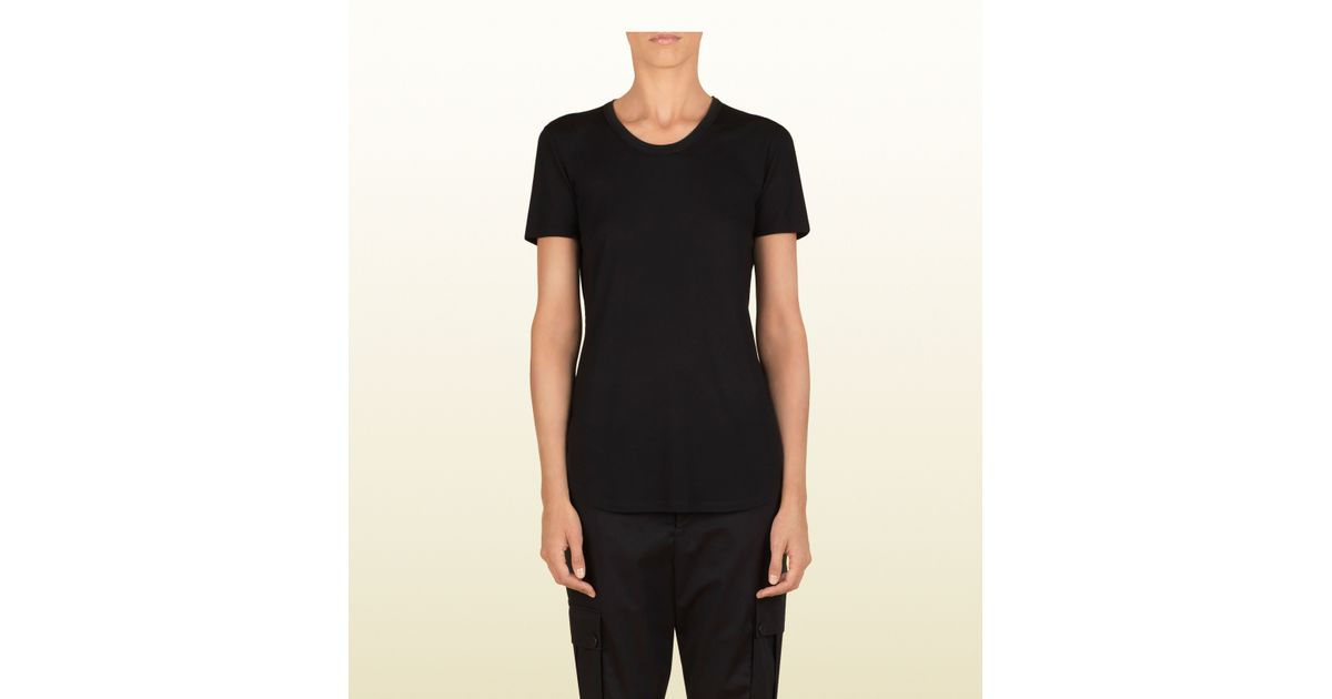 9a2e6b59 Gucci Women's Black Short Sleeve T-shirt From Viaggio Collection in Black  for Men - Lyst