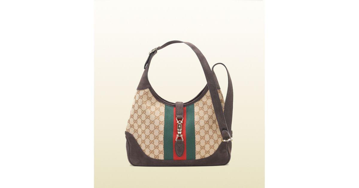 6cafe596ec4 Lyst - Gucci Jackie Shoulder Bag in Natural