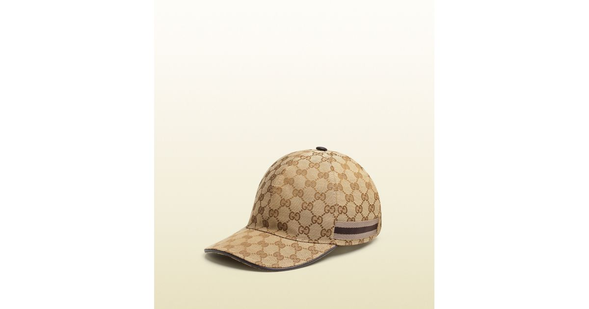 60a0a8e5f02 Lyst - Gucci Original Gg Canvas Baseball Hat in Brown for Men
