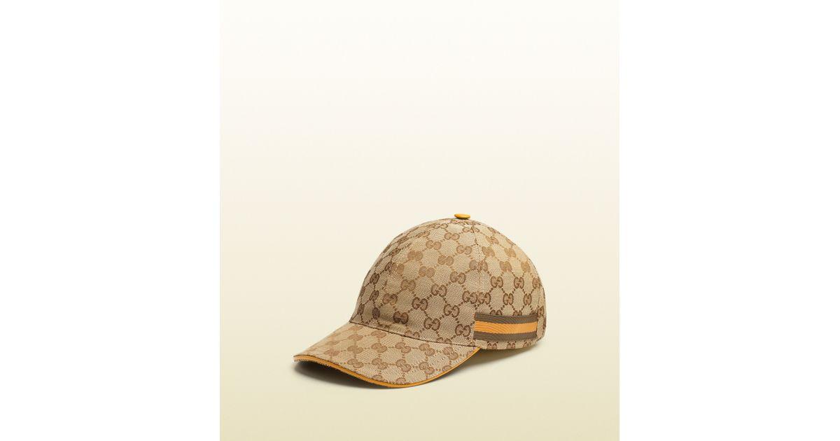 f6f2704140b Lyst - Gucci Original Gg Canvas Baseball Hat in Natural for Men