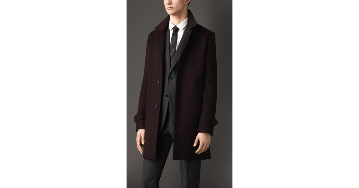 Burberry Wool Cashmere Car Coat in Brown for Men | Lyst