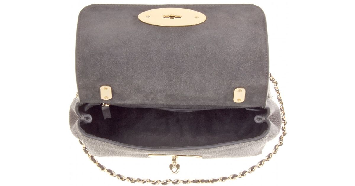 9a5622f6a13 ... low price lyst mulberry medium lily grainy leather shoulder bag in gray  dc297 b581c