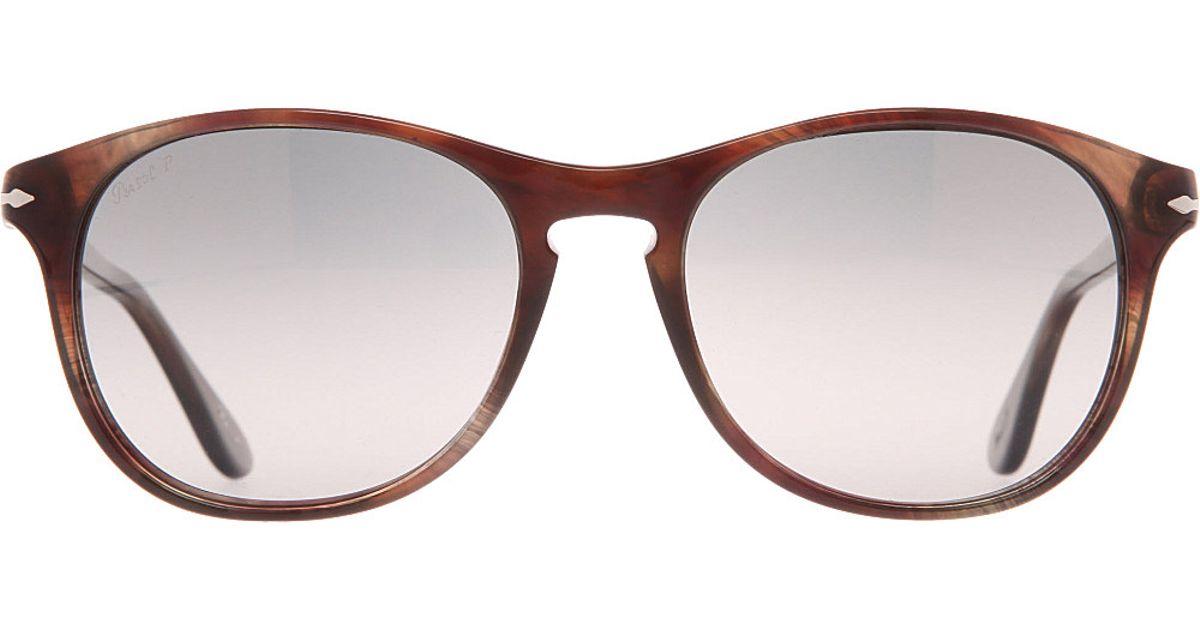 6b314e2fe0 Persol Suprema Tortoiseshell Roundframe Sunglasses in Brown for Men - Lyst
