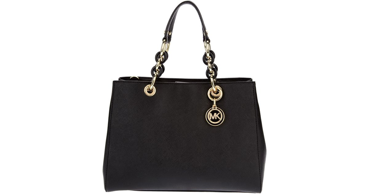 8c9acde770d6 ... canada lyst michael michael kors cynthia tote in black 13181 7a6cd ...