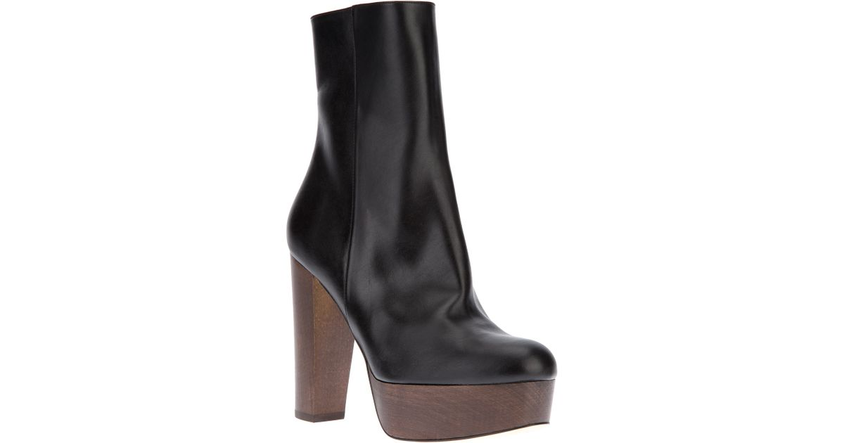 4b8f5551eae Stella McCartney - Black Mid Calf Platform Boot - Lyst