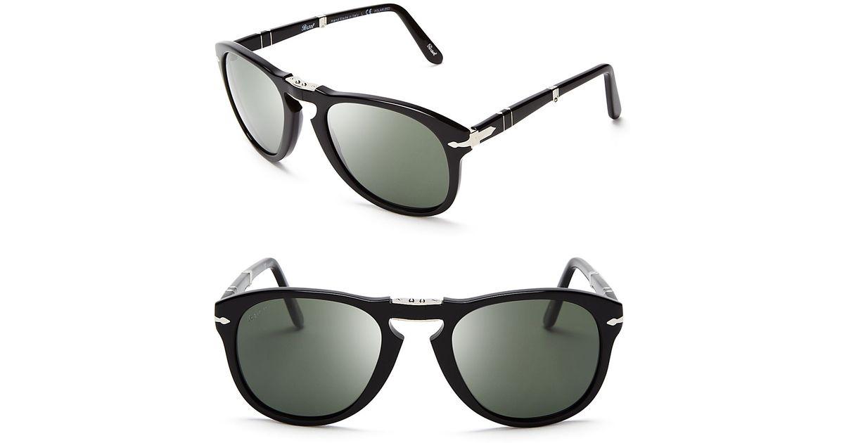 678f81c1b2 Persol Suprema Folding Polarized Keyhole Sunglasses in Black for Men - Lyst