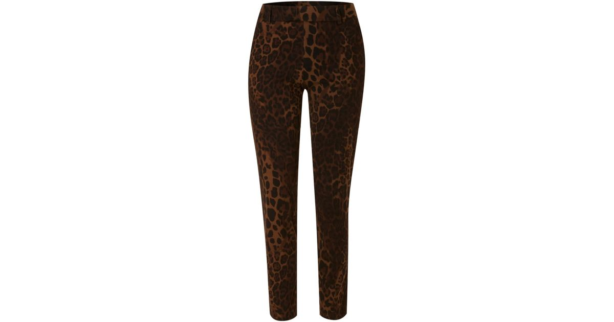 9bf09be4cf Biba Leopard Printed Capri Pants in Brown - Lyst