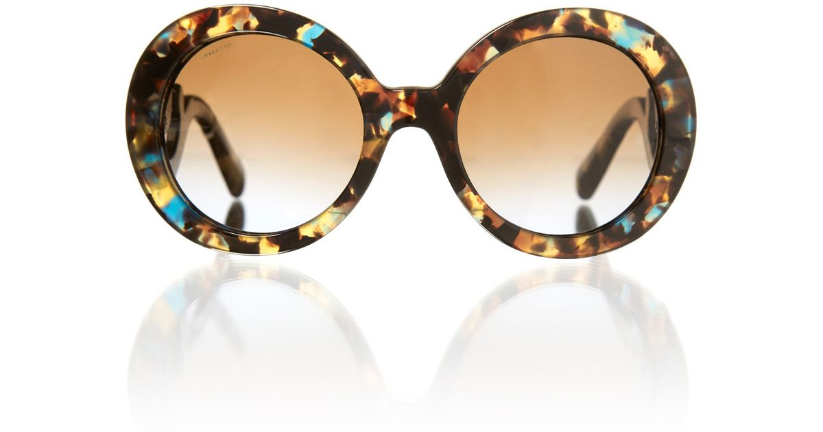 b540e02160 ... where to buy prada tortoiseshell minimal baroque round sunglasses in  brown for men lyst ddd75 ef9c5 ...