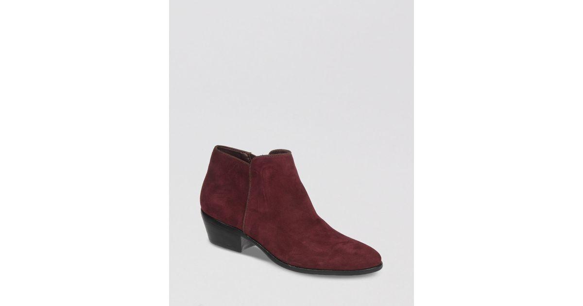 a31877edd8da95 Lyst - Sam Edelman Petty Short Boots in Purple