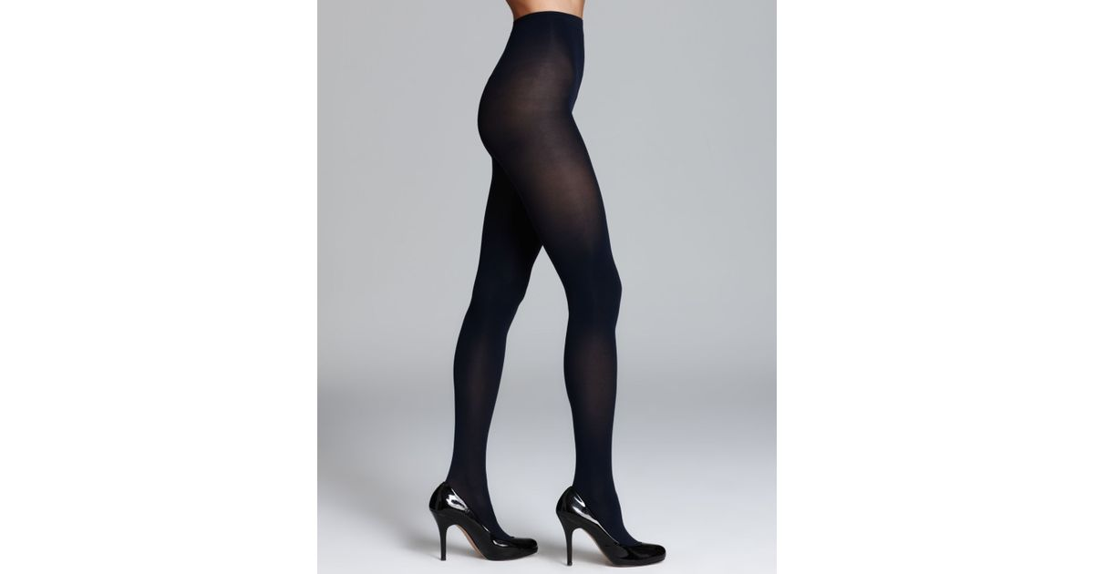 a30593813d14e Hue Sheer To Waist Opaque Tights in Black - Lyst