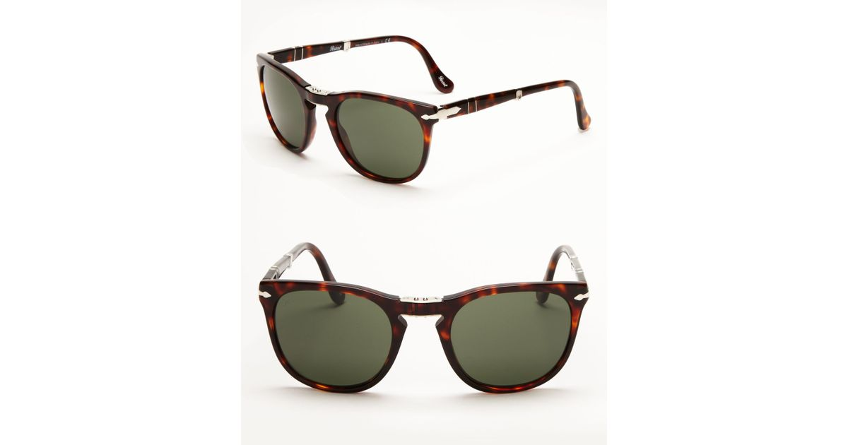 8c545cfb64067 Persol Folding Keyhole Sunglasses in Brown for Men - Lyst