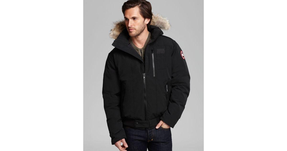 buy canada goose borden bomber black men's jackets
