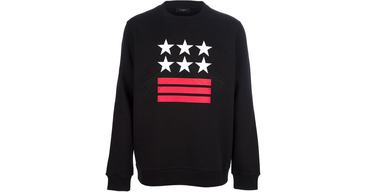 1bd245302869 Lyst - Givenchy Stars and Stripes Sweatshirt in Black for Men