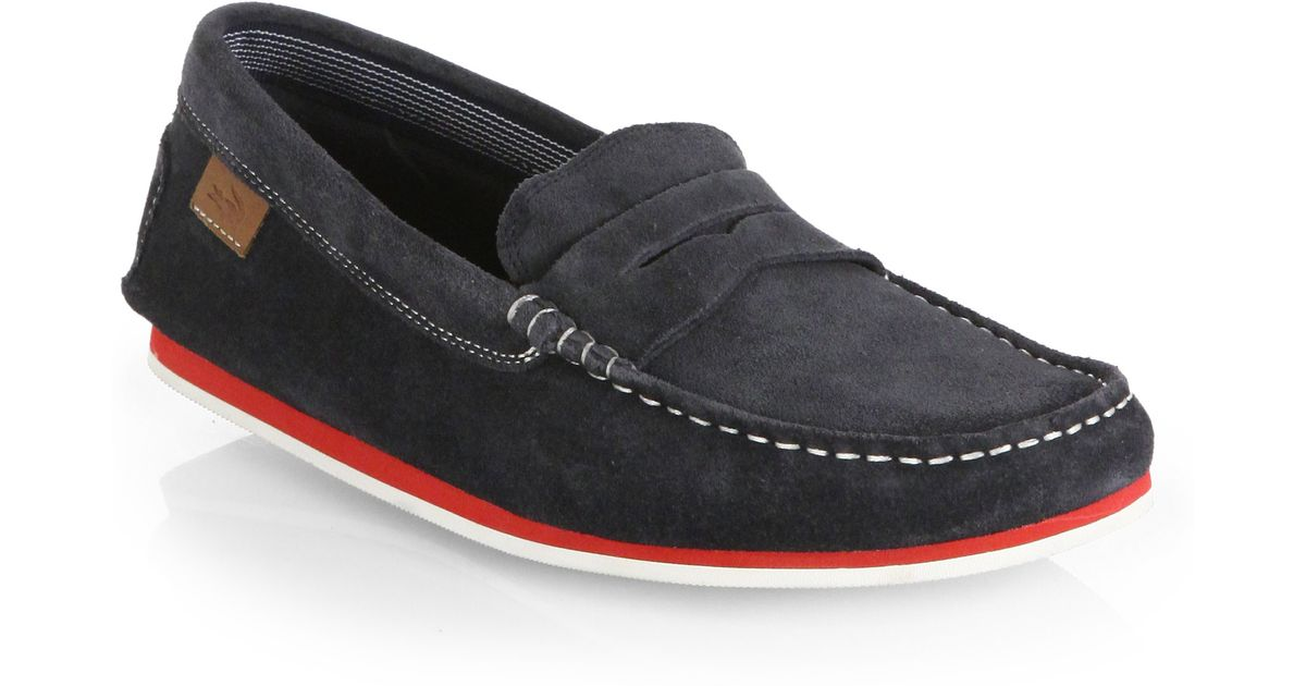 4eac70451 Lyst - Lacoste Chanler Suede Loafers in Blue for Men